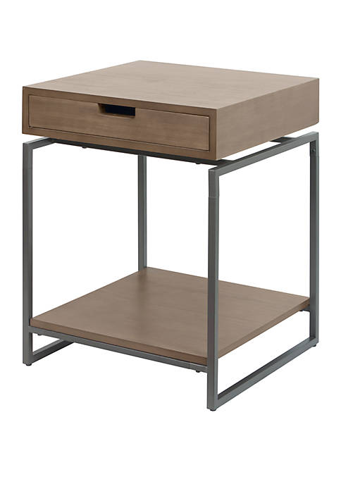 Silverwood Bronson Floating Top End Table