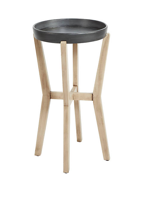 Silverwood Alex Tall Round Accent Table with Wood