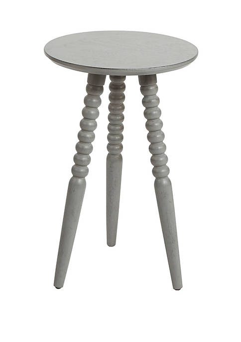 Allison Round Accent Table with Turned Legs