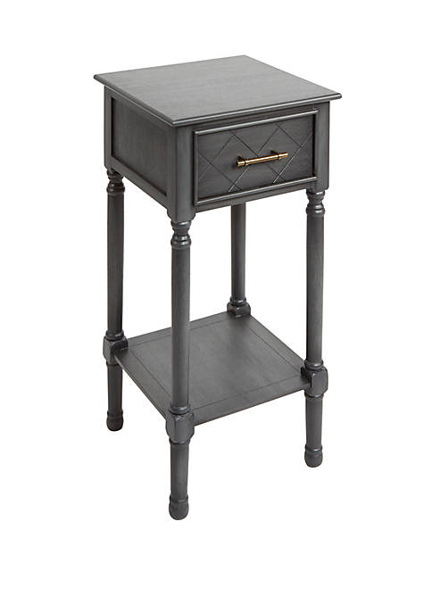 Silverwood Angelica Sqaure Accent Table with Shelf