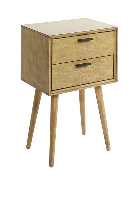 Olsen Mid-Century 2 Drawer Accent Table