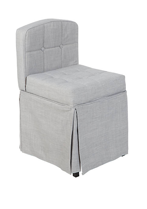 Silverwood Sally Skirted Camelback Vanity Chair with Tufted