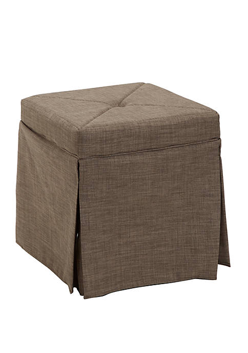 Silverwood Sally Skirted Square Backless Vanity Seat