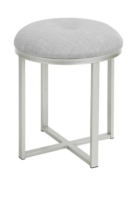 Mia Upholstered Metal Round Vanity Seat