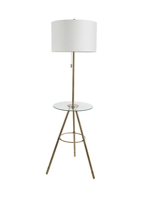 Silverwood Elijah Tripod Base Floor Lamp with Tray