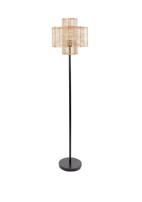 Cyndi Rattan Floor Lamp