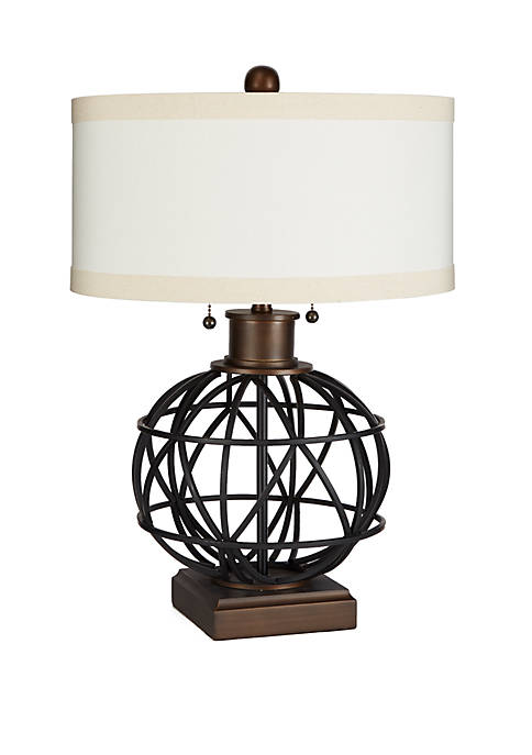 The Atlas Two-Pull Table Lamp with Shade