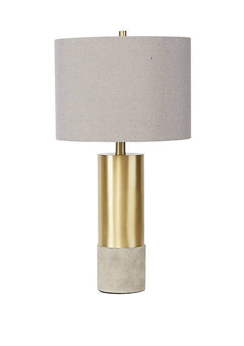 Silverwood Nicole Golden Cylinder Table Lamp with Cement