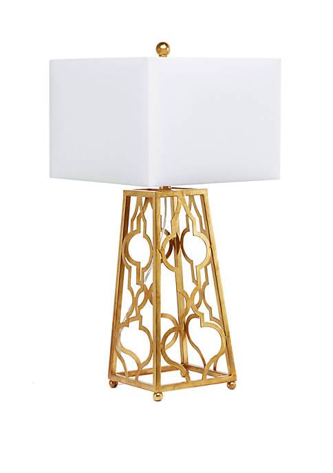Quatrefoil Square Base Table Lamp