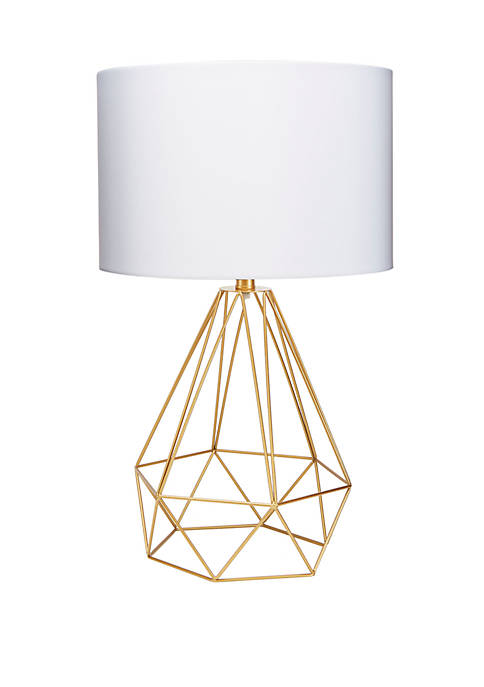 Celeste 26 Inch Wire Prism Table Lamp, Gold