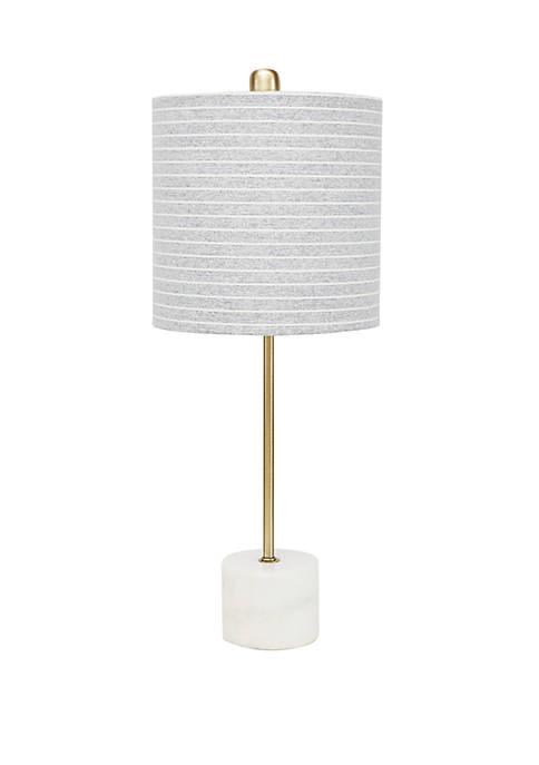 Lori Gold Stick Lamp with Marble Base