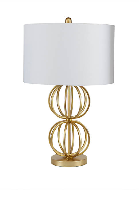 Silverwood Jolie Stacked Orb Table Lamp with Shade