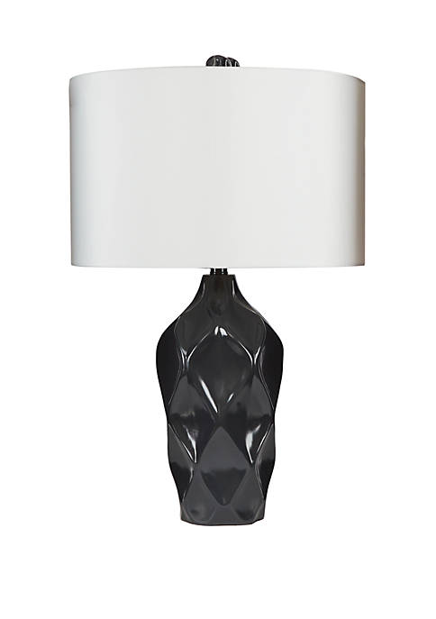 Silverwood Hailey Dimensional Diamond Table Lamp with Shade,
