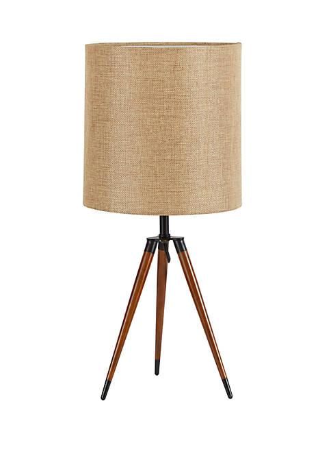 Arthur Wooden Compass Leg Tripod Table Lamp