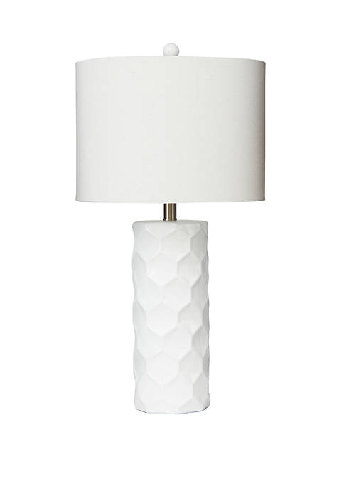 Polygon Inlay Table Lamp with Shade