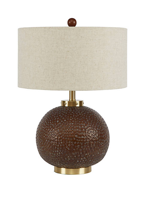 Perry Hammered Finish Table Lamp with Shade, Large