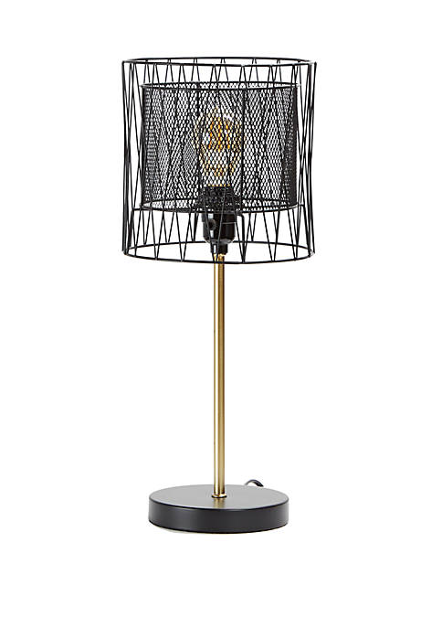 Jett Metal Wire Shade Table Lamp