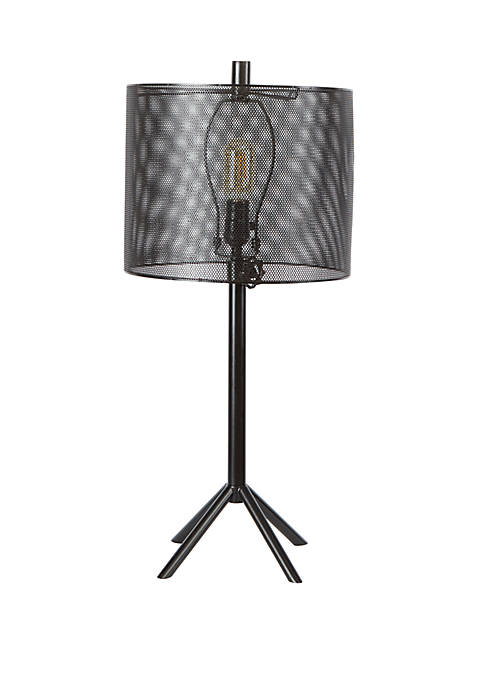 Silverwood Rhett Tall Metal Table Lamp with Mesh