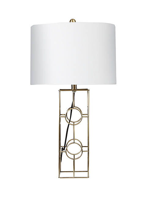 Silverwood Fairmont Metal Frame Table Lamp with Double