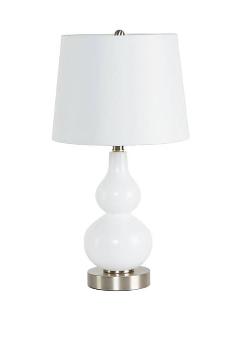 Silverwood Reese Glass Gourd Table Lamp
