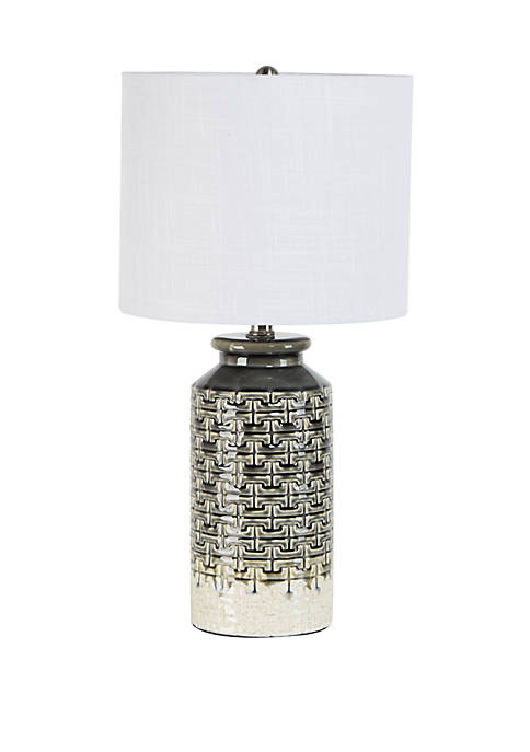 Silverwood Kote Etched Ceramic Table Lamp