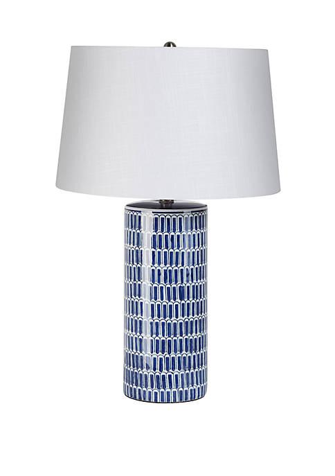 Wellington Tiles Ceramic Cylinder Table Lamp