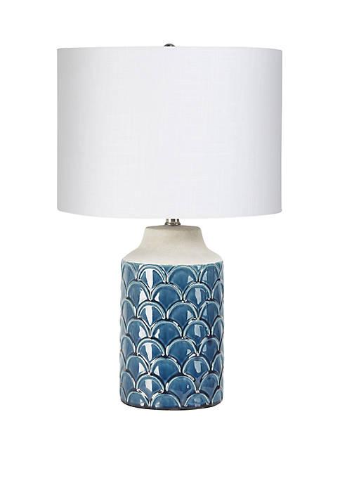 Silverwood Adonna Scale Ceramic Lamp