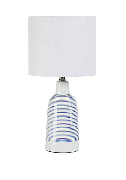 Silverwood Trevella Striped Ceramic Jug Table Lamp