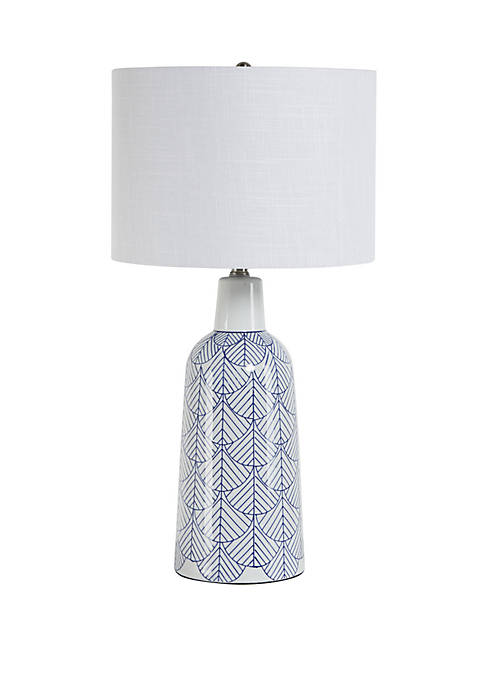 Silverwood Rescha Scale Design Ceramic Jug Table Lamp