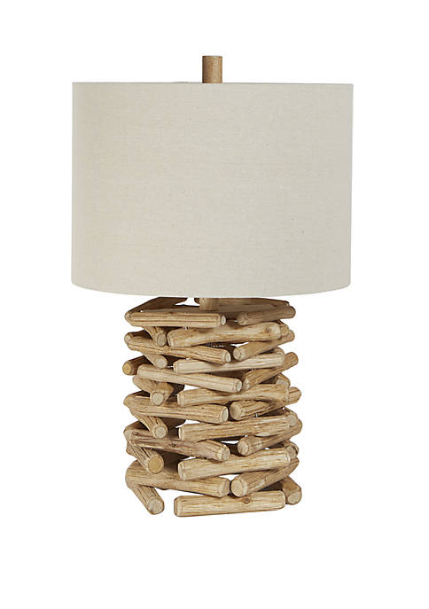 Silverwood Chester Wood Sticks Cylinder Table Lamp