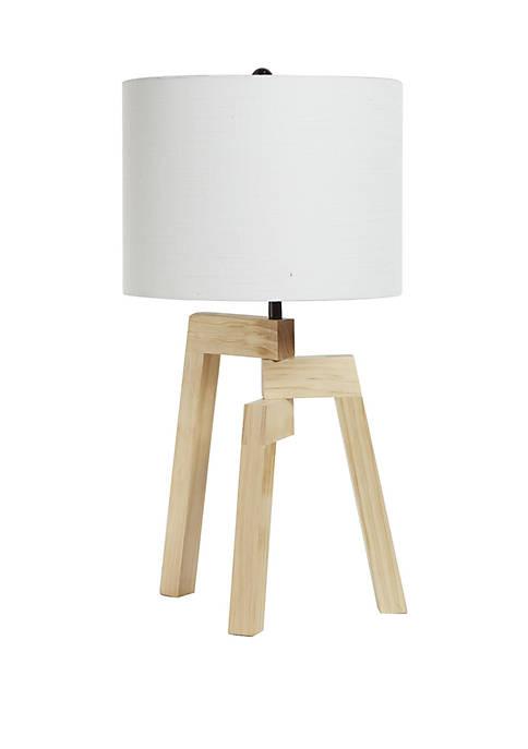 Silverwood Fredrica Tripod Wood Table Lamp