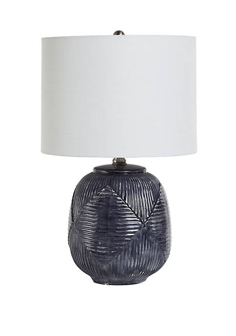 Silverwood Redan Etched Ceramic Table Lamp