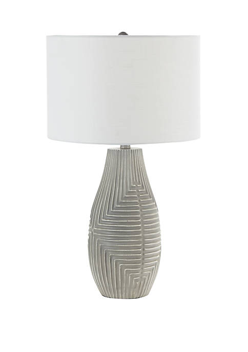 Silverwood Teller Embossed Global Table Lamp