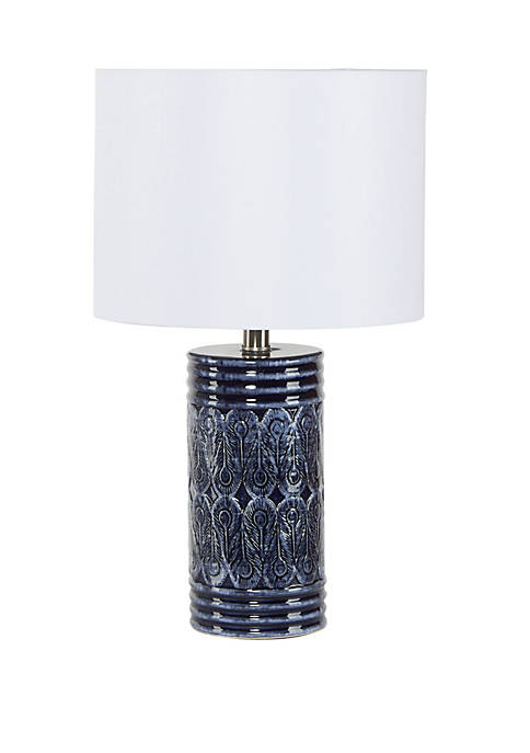 Silverwood Eira Ceramic Cylindar Table Lamp