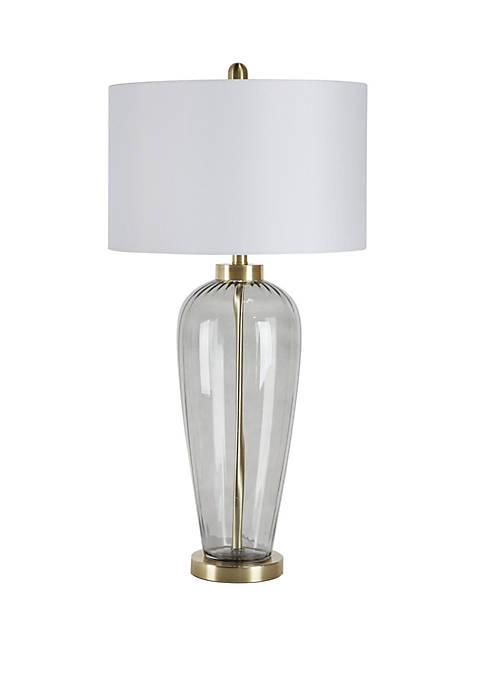 Ozias Tall Urn Glass Table Lamp