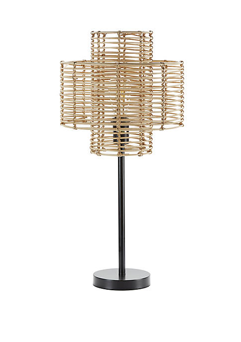 Silverwood Cyndi Rattan Table Lamp