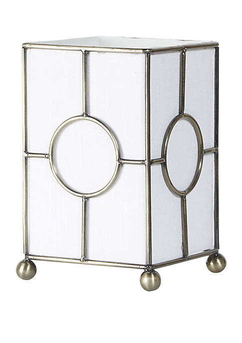 Allison Fabric Uplight with Metal Frame