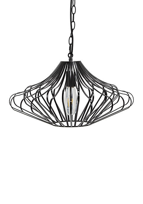 Cliff Curved Metal Wire 1 Light Pendant