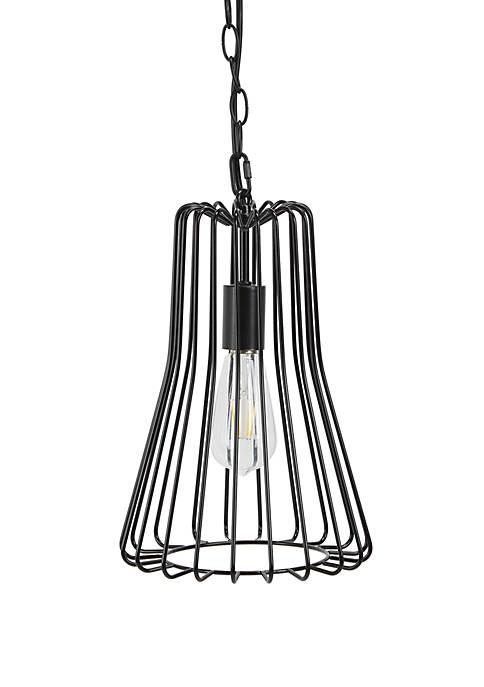 Bryton Metal Wire Bell 1 Light Pendant