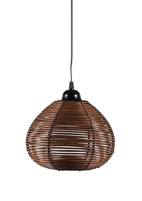 Delilah Woven Wicker Hanging 1 Light Pendant