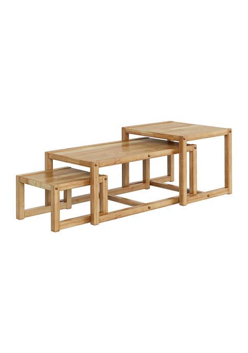 Handy Living Cashmen 3-Piece Wood Nesting Tables