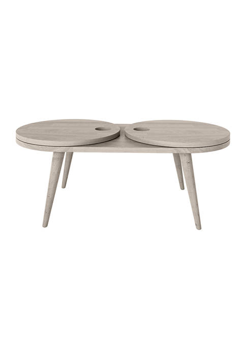 Shorewood Modern Oval Expandable Wood Cocktail Table