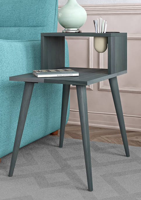 Shorewood Mid Century Modern Wood End Table with Shelf