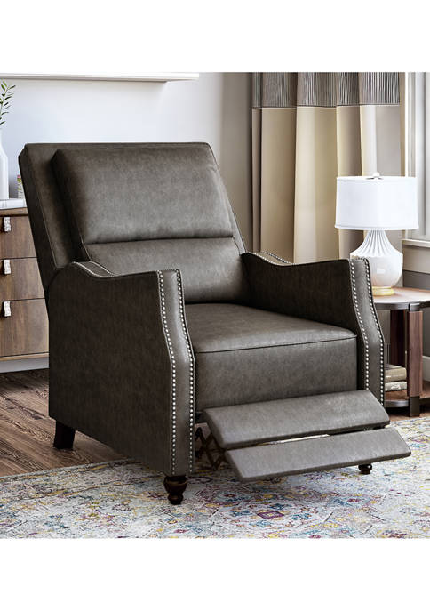 ProLounger Push Back Recliner Chair in Distressed Faux