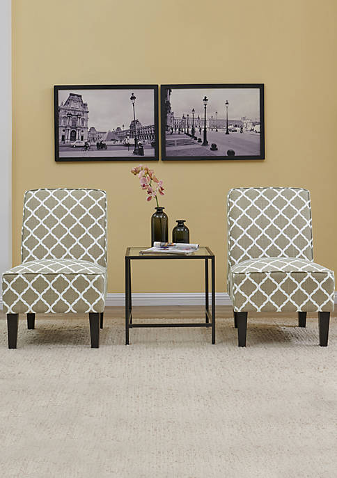 Handy Living Set of 2 Brodee Chairs- Trellis
