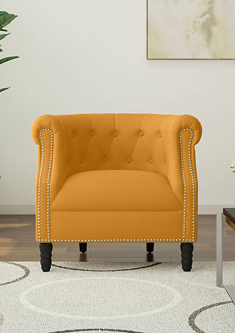 Chesterfield Chair in Linen