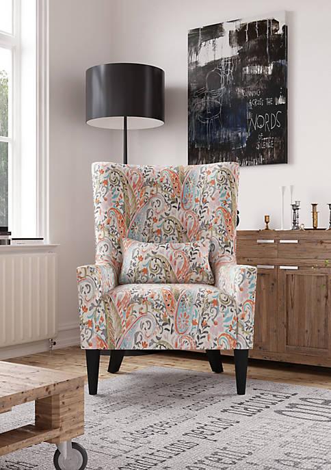 Handy Living Venecia High Back Wing Chair