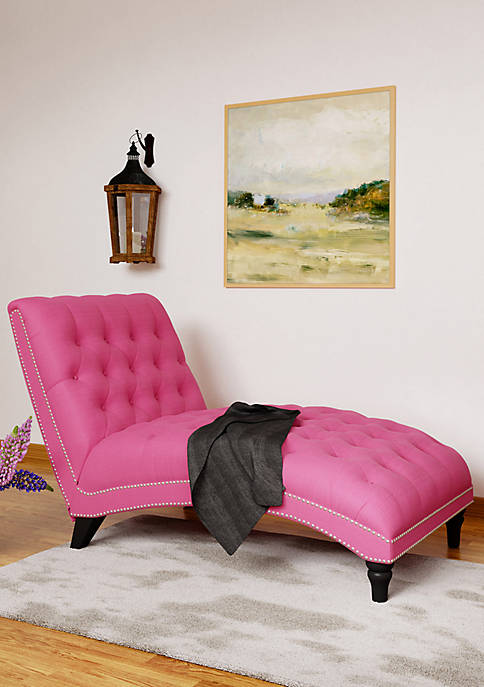 Handy Living Cara Snuggler Chaise Lounge in Linen