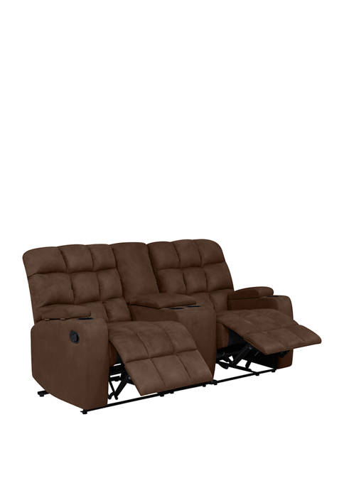 Admirable Prolounger 2 Seat Wall Hugger Recliner Loveseat With Power Storage Console In Microfiber Short Links Chair Design For Home Short Linksinfo