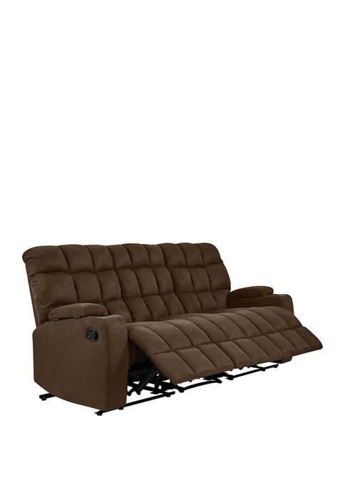 ProLounger® 3 Seat Wall Hugger Storage Recliner Sofa in Microfiber